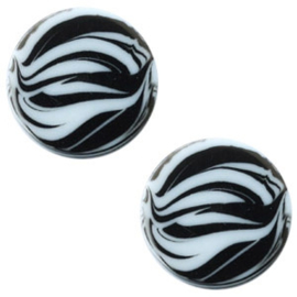 Cabochon Polaris plat 12mm zebra powder blue 43761