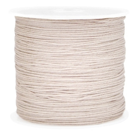 Macramé draad 0,8mm light brown 37738
