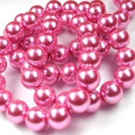 Glasparel 8mm rond roze