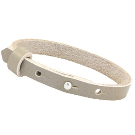 Cuoio armband 8mm leer sage grey 35303