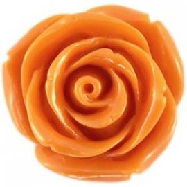 Roosje 15x7mm oranje