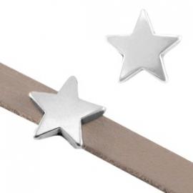 DQ leerschuiver ster voor 5mm antiekzilver nikkelvrij 27694