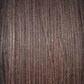 Waxkoord donker bruin 0.5mm per meter