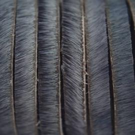 DQ Leer met haar 5mm grijsblauw