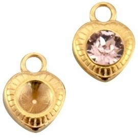 DQ bedel setting hart voor puntsteen SS29 goud nikkelvrij 23256