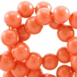 Glaskraal opaque 4mm oranje 10 stuks 23885