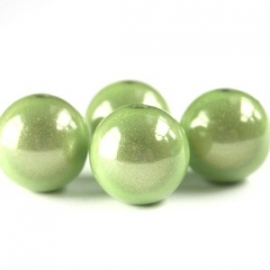 Miracle 3D kralen 10mm lime groen