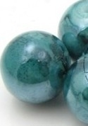 Glaskraal crackle shine 8mm blauwgroen melee mf25709