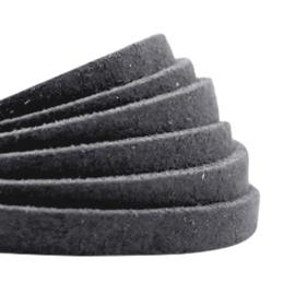 DQ Leer plat 5mm antraciet zwart 26859