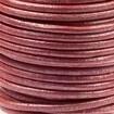 DQ Leer rond 2mm rood metallic per 20cm