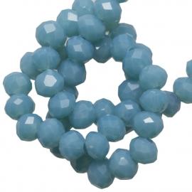 Facet 4x3mm rondel  sea blue G221