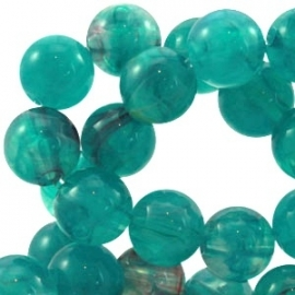 Perla beads 8mm emerald blue zircon 22006