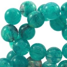 Perla beads 10mm emerald blue zircon 22007