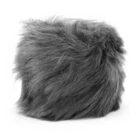 Pompom hanger faux fur anthracite grey 46859