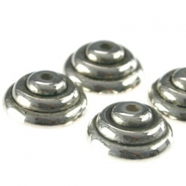 Metallook kapje 12mm antiekzilver