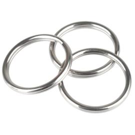 RVS Sleutelhanger 25mm ring metaal D21069