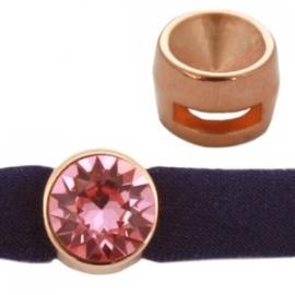 DQ setting schuiver voor puntsteen SS39 rosé goud nikkelvrij 20988