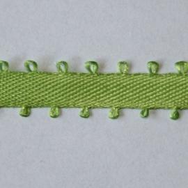 Lint met lusjerand 5mm per meter groen