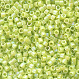 Miyuki delicas 11/0 (2mm) opaque AB chartreuse green 169