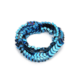 Hematite kralen arrow 8mm blue 170309