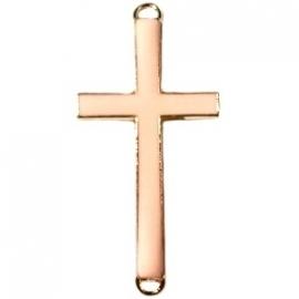Kruis tussenzetsel 37x17mm licht peach-goud
