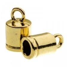 DQ eindkapje voor 4mm metaal goudkleur Pp700