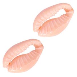 Kauri schelp kralen sweat coral peach 60431