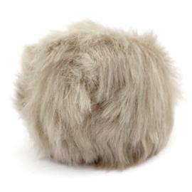 Pompom hanger faux fur taupe 46862