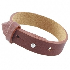 Cuoio armband 15mm leer dark copper brown 24456