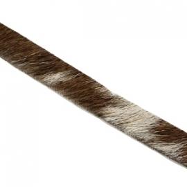 Leer met haar 6mm bruin.grijs beige gemêleerd 26153