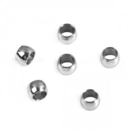 RVS knijpkraal 2mm/1mm 20 stuks nikkel