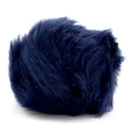 Pompom hanger faux fur dark blue 46865