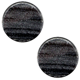 Cabochon Polaris plat 12mm sparkle dust anthracite black 38674