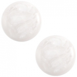 Cabochon Polaris 12mm jais wit beige 27506