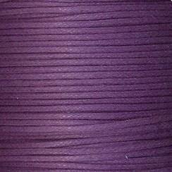 Waxkoord paars 1mm per meter