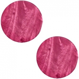 Cabochon Polaris plat 12mm shiny rose wood 30292