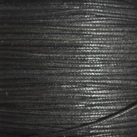Waxkoord zwart 1mm per meter