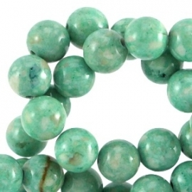 Jade gemêleerd dark mint green 6mm 30172
