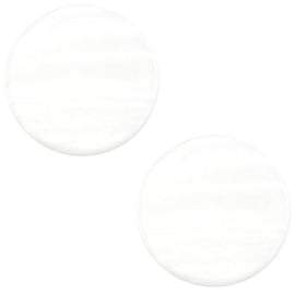 Cabochon Polaris plat 12mm sparkle dust ivory white 38630
