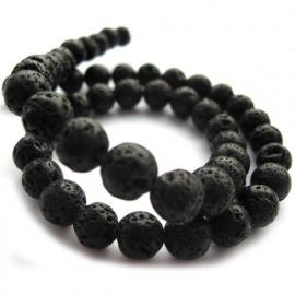 Lava steen 4mm rond zwart