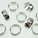 Metalen ring  8x3mm antiekzilver 10 stuks