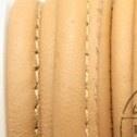 DQ Stitched nappa leer 8x5mm beige