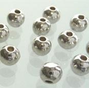 Rond 4mm antiekzilver metaal phLF1078Y