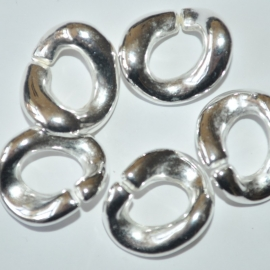 Tussenring 19mm zilver metallook