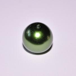 Glasparel 12mm rond donkergroen