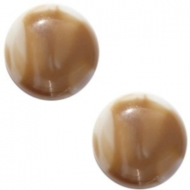 Cabochon Polaris 20mm shiny stone look beige bruin 17185