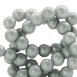 Glaskraal 8mm glitter dust frosted grey 49139