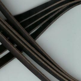 DQ Leer plat 10mm trend bruin mf17355