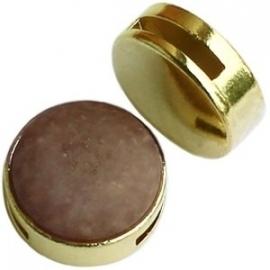 DQ metaal slider voor 20mm cabochon goud 17088