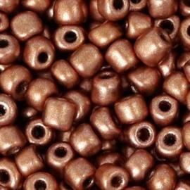 Rocailles 4mm 6/0 copper metallic 56761